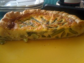 Quiche di asparagi e zucchini