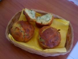 Muffin rucola e robiola